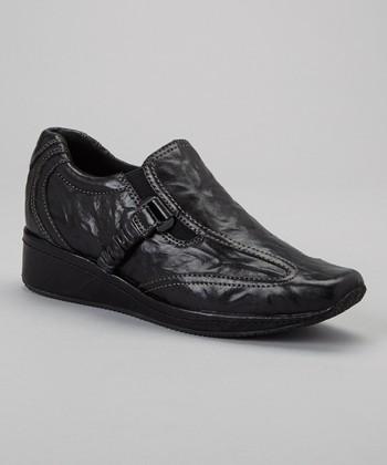 Antia Shoes Black Leather Gili Shoe