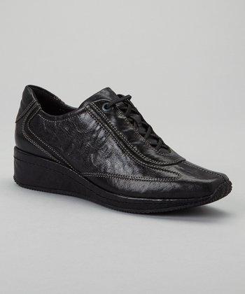 Antia Shoes Black Leather Grisele Shoe