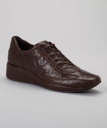 Antia Shoes Mocha Leather Grisele Shoe