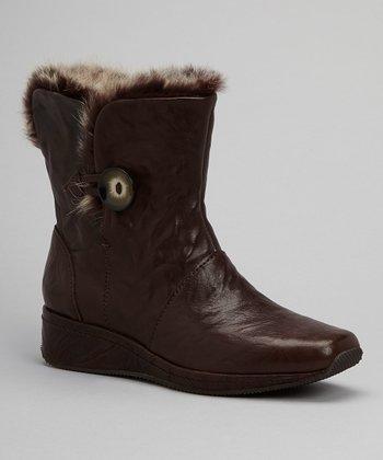 Antia Shoes Mocha Leather Gina Boot