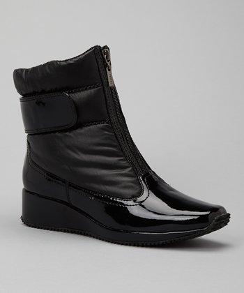 Antia Shoes Black Leather Nikita Boot