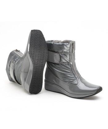 Antia Shoes Dark Gray Leather Nikita Boot