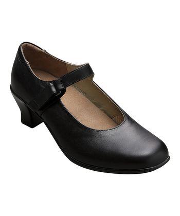 AKAISHI Black Leather Hime Mary Jane