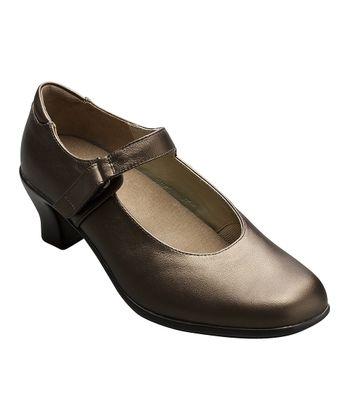 AKAISHI Bronze Leather Hime Mary Jane