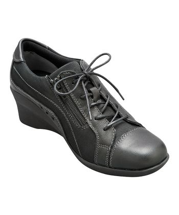 AKAISHI Black Haori Wedge Shoe