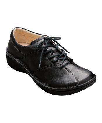 AKAISHI Black Leather Aki Shoe