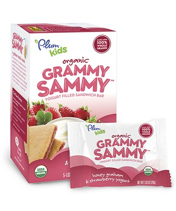Organic Honey & Strawberry Grammy Sammy Bar - Set of 30