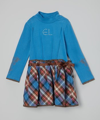 Blue Manoa Plaid Dress - Toddler & Girls