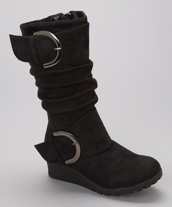 Black Pure Wedge Boot
