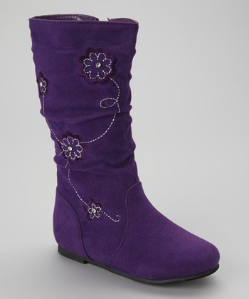 Purple Data Flower Boot
