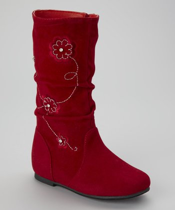 Red Data Flower Boot