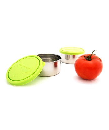Lime Medium Container - Set of Two