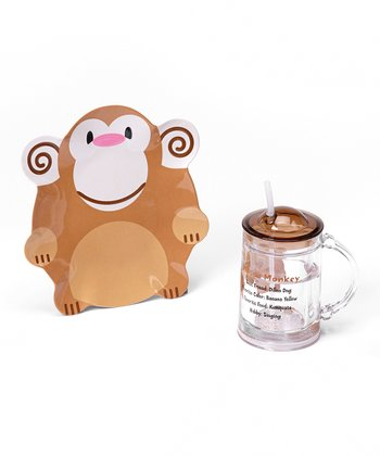Mason Monkey 8'' Plate & 16-Oz. Floatie Cup