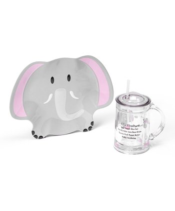 Ellie Elephant 8'' Plate & 16-Oz. Floatie Cup