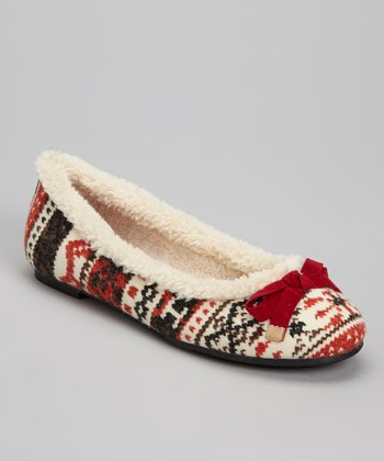 Red & Black Misty Ballet Flat