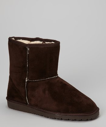 Chocolate Microfiber SheepDawgs Ankle Boot