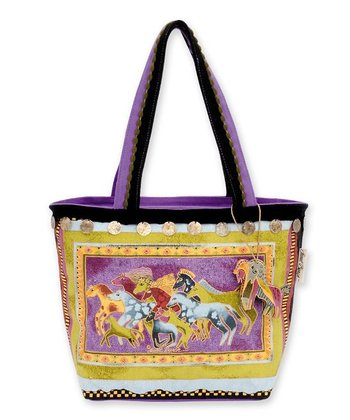 Yellow Mythical Horses Small Tote