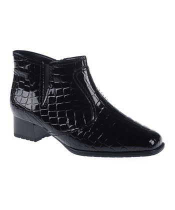 Black Crocodile Gala Ankle Boot