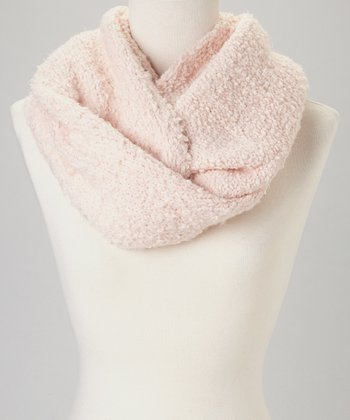 Light Pink Buttercream Infinity Scarf