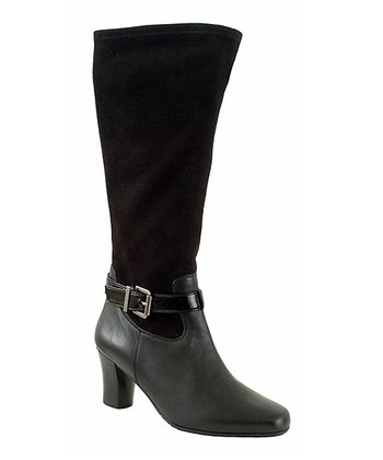 Black Weston Extra-Wide-Calf Boot