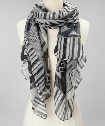 Black Native Scarf