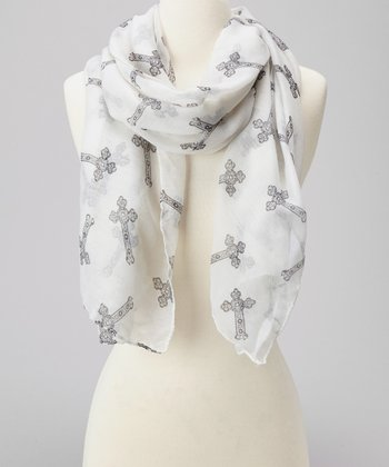 Ivory Cross Scarf