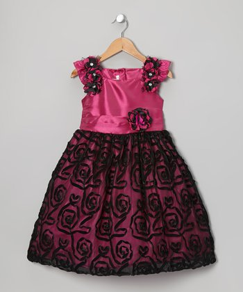 Pink Flower Dress - Toddler & Girls
