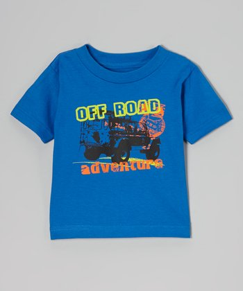 Blue 'Off Road Adventure' Tee - Toddler & Boys