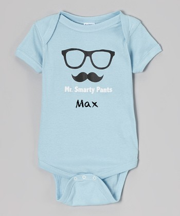 Blue 'Mr. Smarty Pants' Personalized Bodysuit - Infant