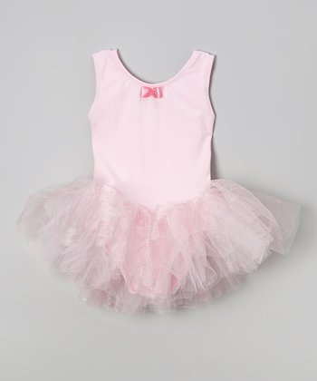 Pink Bow Tutu Skirted Leotard - Girls