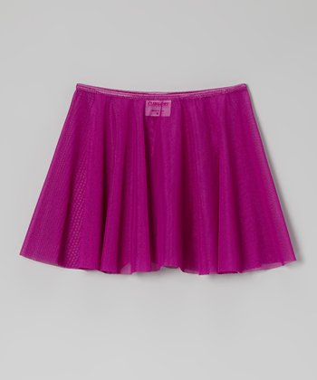 Purple Circle Skirt - Girls