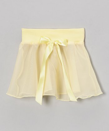 Banana Bow Georgette Skirt - Girls