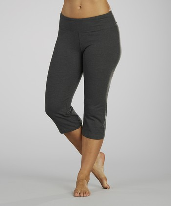 Heather Charcoal Capri Pants