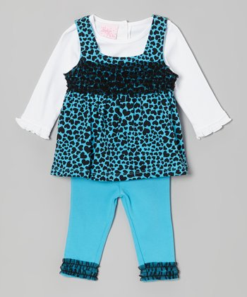 Blue Hearts Layered Tunic Set - Infant
