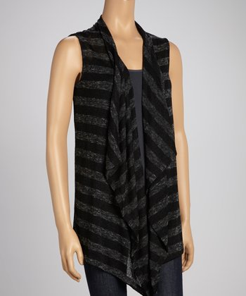 Black Stripe Vest