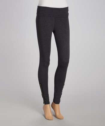 Charcoal Ankle-Zip Leggings