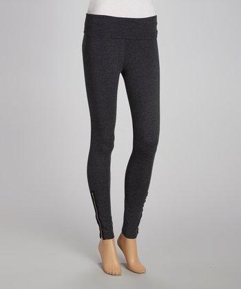 Charcoal Ankle-Zip Leggings