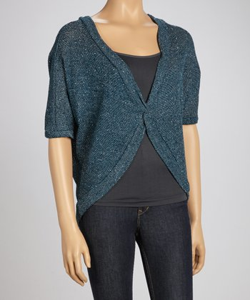 Blue Heathered Cardigan