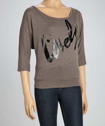 Mocha 'Lovely' Dolman Sweatshirt