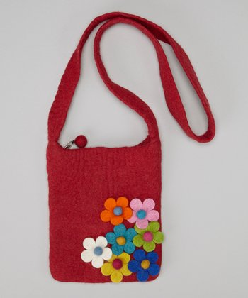 Red Flower Crossbody Bag