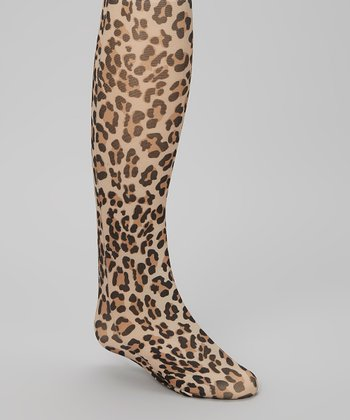 Brown & Black Leopard Tights