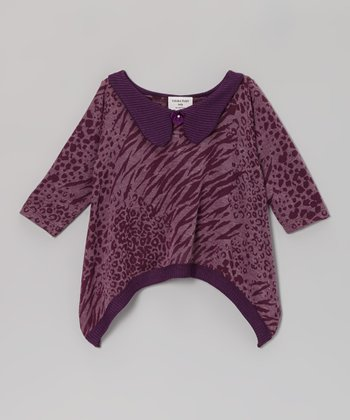 Purple Zebra Sidetail Top - Infant, Toddler & Girls
