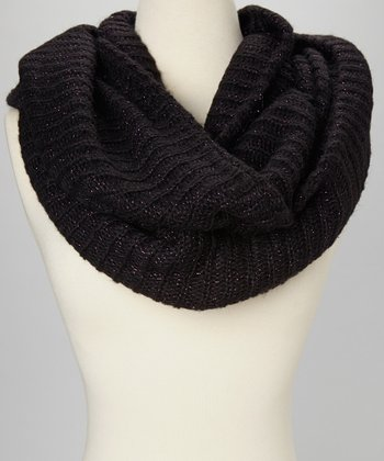 Purple Metallic Infinity Scarf