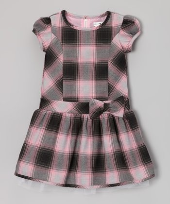 Pink & Black Plaid Ada Wool Dress - Infant, Toddler & Girls