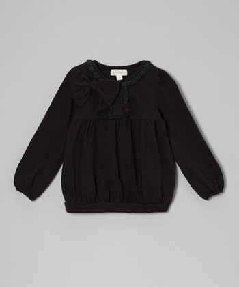 Black Bow Top - Toddler & Girls
