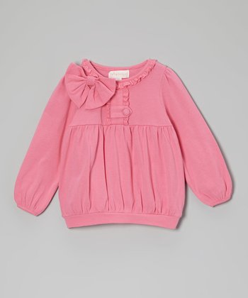 Pink Bow Top - Toddler & Girls