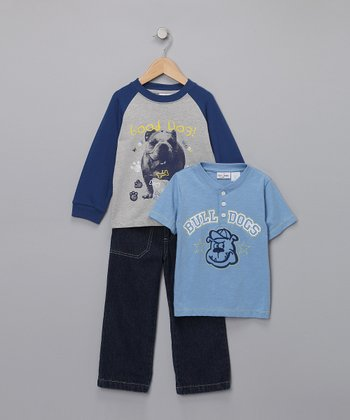 Blue 'Good Dog' Tee Set - Infant