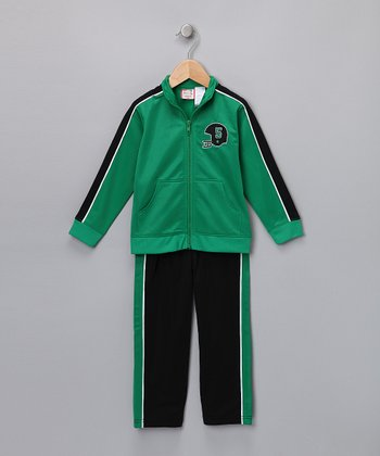 Green Track Jacket & Pants - Infant