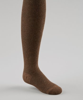 Brown Thermal Knit Tights