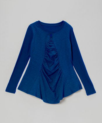 Royal Blue Flounce Top